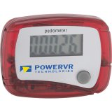 Translucent Red printed In Shape Pedometer