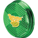 Green decorated Safety Clip-On Reflector