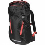 Black/Red Front View Waterproof Day Pack