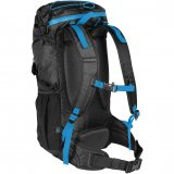 Black/Methyl Blue Back View Waterproof Day Pack