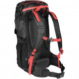 Black/Red Back View Waterproof Day Pack