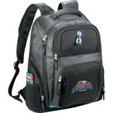 Black Printed Zoom Checkpoint-Friendly Compu-Backpack