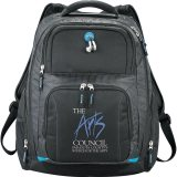 Printed Zoom Checkpoint-Friendly Compu-Backpack
