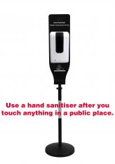 Automatic Hand Sanitiser Dispenser on a Stand