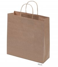 Kraft Paper Bag Brown Large Includes Twisted Paper Handle