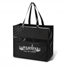 Quilted Laminated Diamond Tote