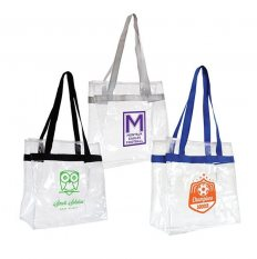 Large CLear Tote Bag with Colour Straps