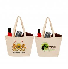 Cotton Canvas Totes with Zipper Closure