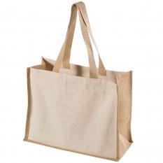 Eco Friendly Jute and Calico Combination Bag