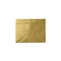 Laminated Matte Emerald Gold Paper Bag