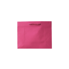 Laminated Matte Emerald Hot Pink Paper Bag