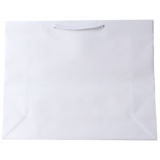 Laminated Matte Galleria White Paper Bag