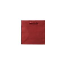 Laminated Matte Petite Red Paper Bag
