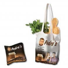 Cotton Folding Shopping Bag with Full Colour Design