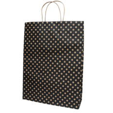 Black Spot Kraft Midi Paper Bag