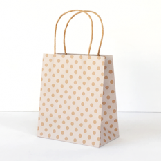 White Spot Kraft Toddler Paper Bag