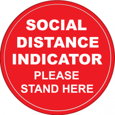 0. Social Distancing Indicator Circular Floor Graphics