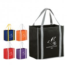 Two-tone Non-Woven Tote Bag with Poly Board Insert