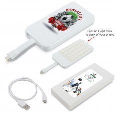 Suction Cup Power Bank with 8 Pin Ribbon Cable