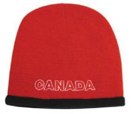 Custom Printed Roll Down Acrylic and Polar Fleece Beanie