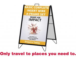 Corflute Insert Wire A-Frame Sign Set