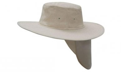 6373fe63539 Promotional Canvas Sun Safety Hat With Flap
